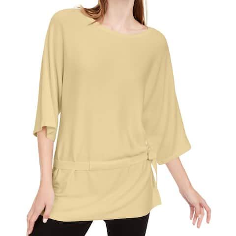 Alfani Women Sweater Soft Small Drawstring Back Pullover