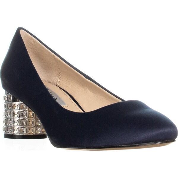 22883a0798dbe Shop Nina Barbe Jeweled Kitten Heel Dress Pumps, New Navy - 6.5 US ...