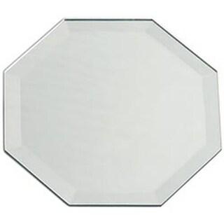 "Bulk - Octagon Glass Mirror Placemat W/Bevel Edge 12""X18"""