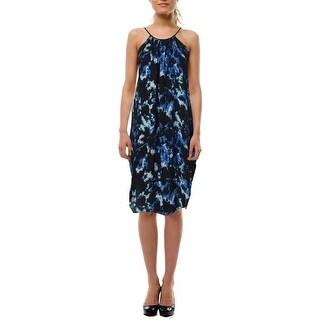 Aqua Womens Juniors Georgette Embellished Party Dress