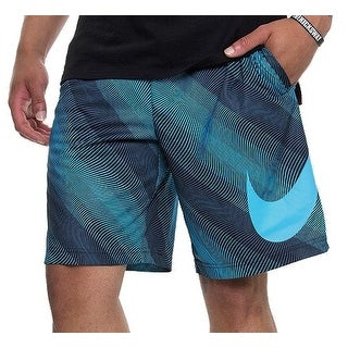 Nike NEW Blue Black Men's Size XL Printed Pull-On Dri-FIT Shorts
