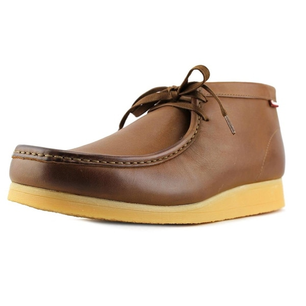 Clarks Stinson Hi Men  Moc Toe Leather Tan Chukka Boot