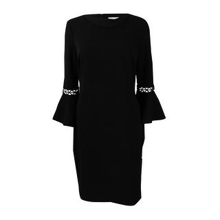 Calvin Klein Women's Bell-Sleeve Sheath Dress - Black