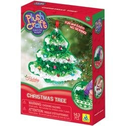 Christmas Tree-Plush Craft Fabric By Number Ornament Kit