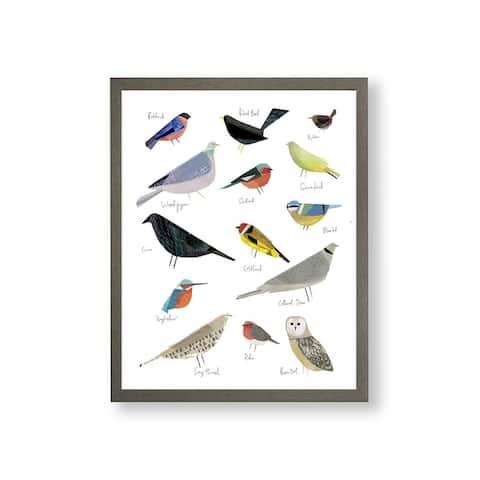Bird Song Framed Print Wall Art