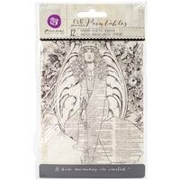 "Iron Orchid Designs Everyday Vintage Paintables Cards-Bohemian 4""X6"", 12/Pkg"