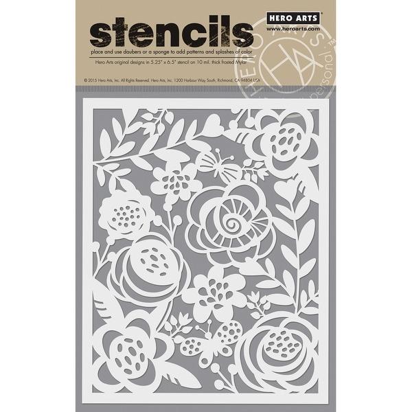 "Hero Arts Stencil 6.25""X5.25""-Bold Floral"