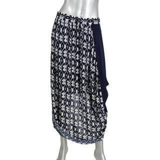 Pure DKNY Womens Printed Long Maxi Skirt - L