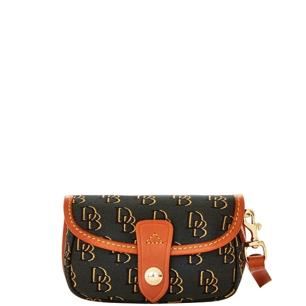 Dooney & Bourke Shadow DB Flap Wristlet (Introduced by Dooney & Bourke at $58 in Apr 2016) - dg bl gd