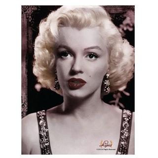"Marilyn Monroe Portrait 45""x60"" Fleece Throw Blanket - Multi"