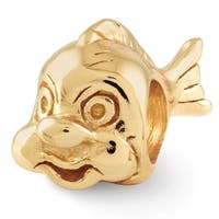 Sterling Silver Reflections Gold-plated Fish Bead (4mm Diameter Hole)