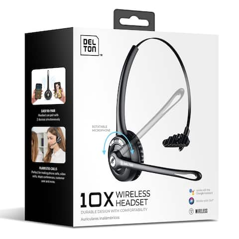 Delton Wireless Bluetooth Headset with Mic / On-Ear Wireless Computer Headphone with Microphone