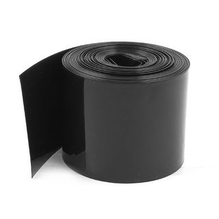 70mm/44mm PVC Heat Shrink Tubing Wrap Black 10m 33ft for 18650 Batteries