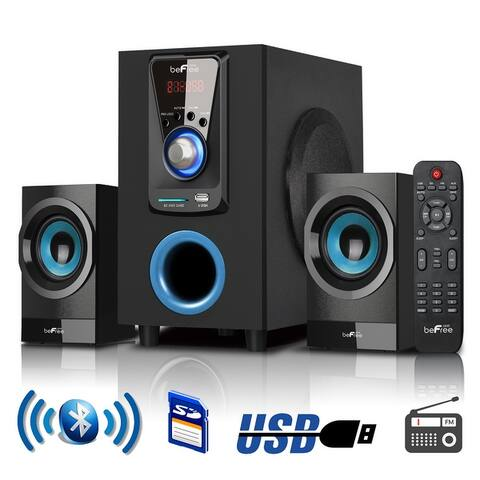 beFree Sound 2.1 CA Surround Sound Bluetooth Home Stereo System