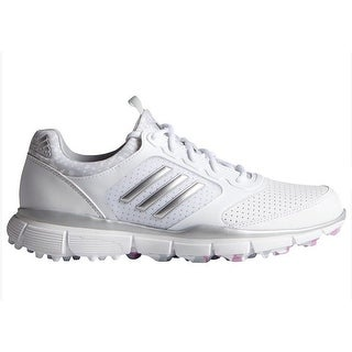 Adidas Women's Adistar Sport White/Matte Silver/Wild Orchid Golf Shoes F33295 (More options available)