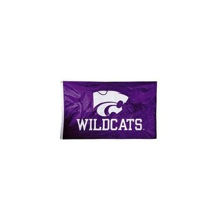 Bsi Products Inc Kansas State Wildcats 2-sided Nylon Applique Flag With grommets Nylon Applique Flag With Grommets