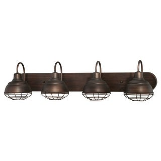 Millennium Lighting 5424 Neo-Industrial 4 Light Bathroom Vanity Light (2 options available)