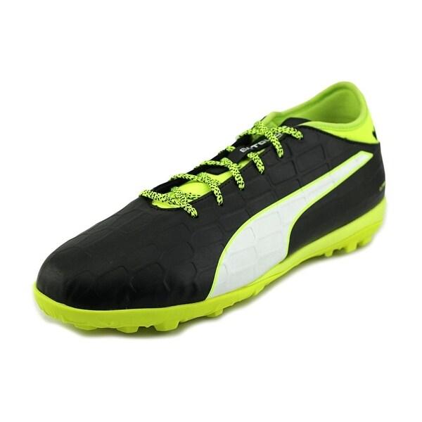 Puma EvoTouch 3 TT Men Black-White-Safety Yellow Running Shoes