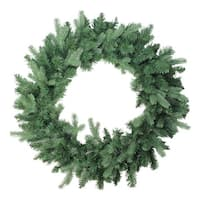 "30"" Coniferous Mixed Pine Artificial Christmas Wreath - Unlit - green"