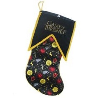 "17.5"" Game of Thrones Family Crest and Logo Decorative Christmas Stocking"