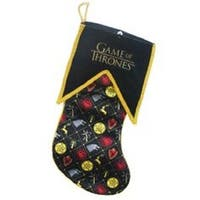 "17.5"" Game of Thrones Family Crest and Logo Decorative Christmas Stocking - black"