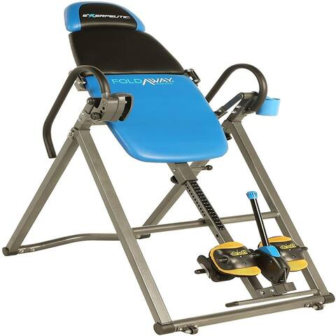 575SL Foldaway Mobile Inversion Table with Airsoft NO Pinch Ankle Holders and SURELOCK Ratchet System