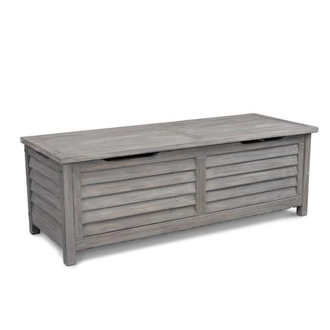 Maho French Grey Outdoor Storage Deck Box