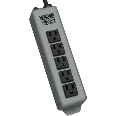 Tripp lite 602-15 waber power strip metal 5-15r 5 outlet 5-15p 15feet cord