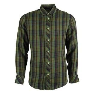Murano Men's Linen Button Down Shirt
