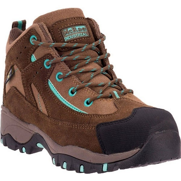 McRae Industrial Work Shoes Womens Leather Hiker Tan Brown