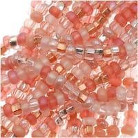 Czech Seed Beads 11/0 Mix Lot Rose Garden Pink