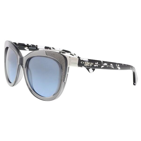 2f9c19f06bc0b Shop Coach HC8171 536817 Dk Gry Crys Blk Crystal Cat Eye Sunglasses ...