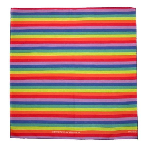 CTM® Rainbow Print Bandana