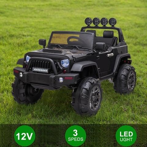 12V Kids Ride On Car SUV MP3 2.4GHZ Remote Control LED Lights Black/Pink