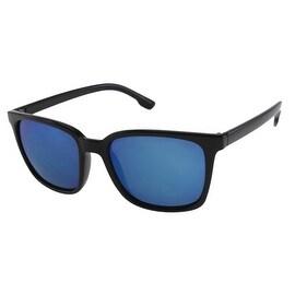 OOS-Unisex Sports Style Sunglasses with Rainbow Color Mirror Lenses - Medium