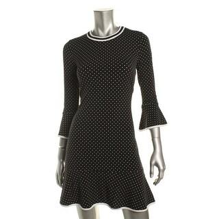 MICHAEL Michael Kors Womens Casual Dress Polka Dot Flounce