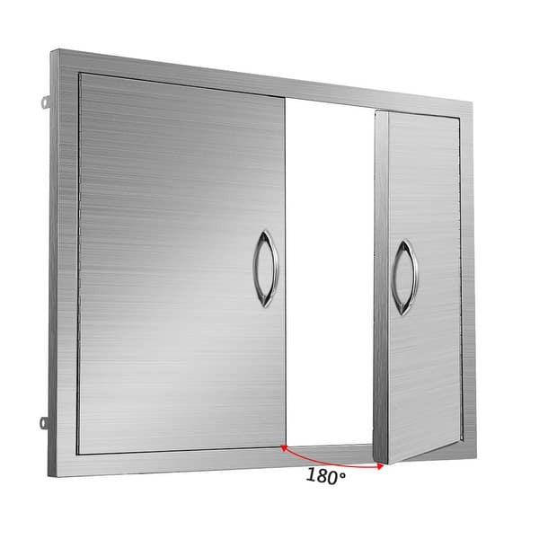 Outdoor Kitchen Doors Stainless Steel Double Bbq Access Doors Overstock 31271791