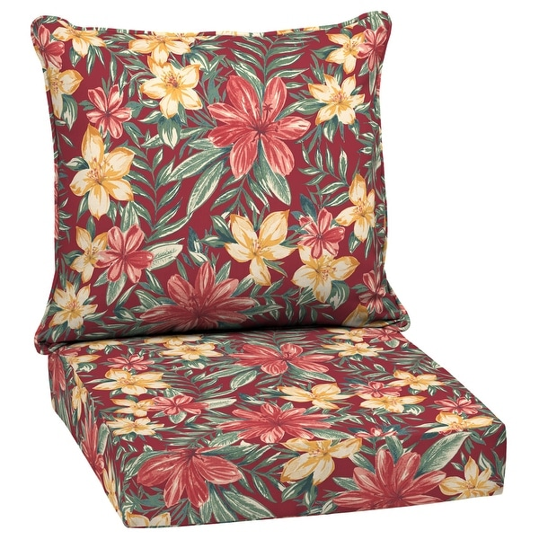 Arden Selections Ruby Clarissa Tropical Outdoor Deep Seat Cushion Set - 24 W x 24 D in.. Opens flyout.
