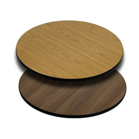 "30"" Round Table Top with Natural or Walnut Reversible Laminate Top"