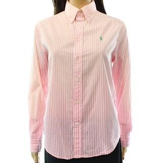 Ralph Lauren NEW Pink Women's Size Medium M Ombre Button Down Shirt