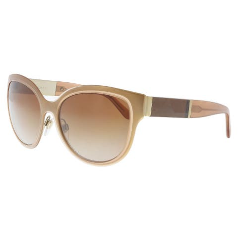 Burberry BE3087 121813 Gold/ Brown Cat Eye Sunglasses - 57-17-140