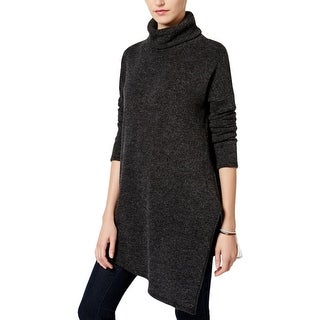 Rachel Roy Womens Turtleneck Sweater Knit Asymmetric