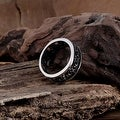 Vienna Jewelry Greek Inspired Ingrained Stainless Steel Ring - Thumbnail 1