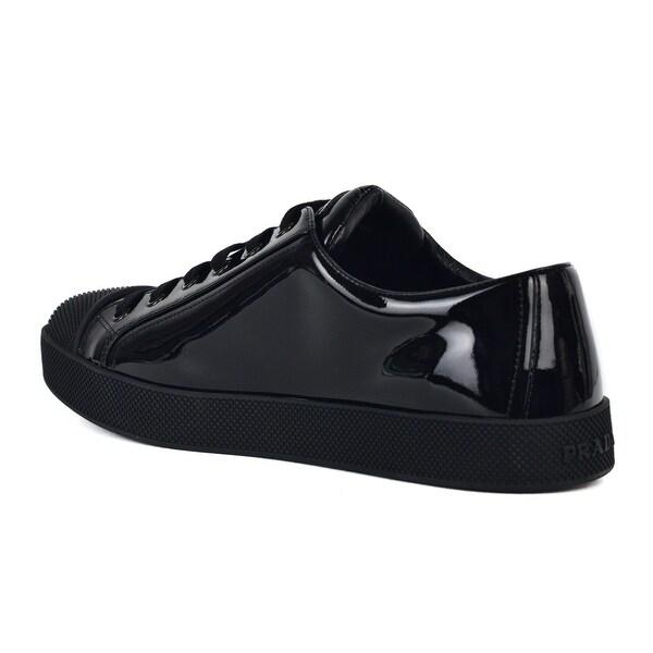 Prada Womens Black Shiny Leather
