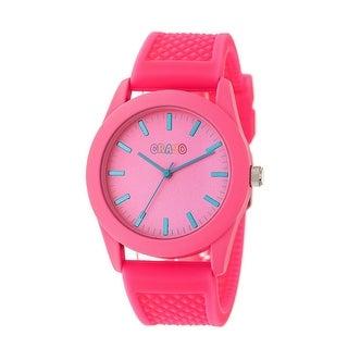 Crayo Storm Unisex Quartz Watch, Silicone Strap