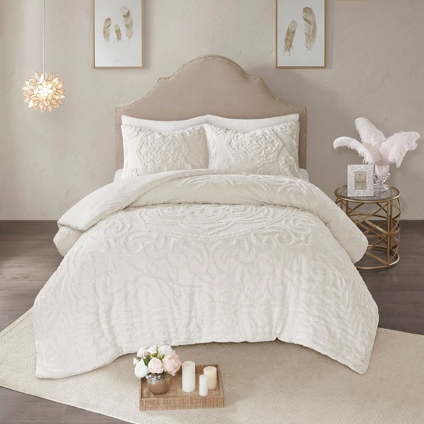 Madison Park Virginia Tufted Cotton Chenille Medallion Comforter Set. Opens flyout.