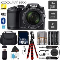 Nikon COOLPIX B500 Digital Camera (Black) 16MP 40x Optical Zoom with Built-in NFC, WiFi & Bluetooth - (Intl Model)
