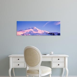 Easy Art Prints Panoramic Images's 'Snowcapped mountains, Mt Hood, Oregon, USA' Premium Canvas Art