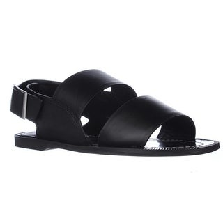 Charles by Charles David Ava Strapped Flat Sandals - Black