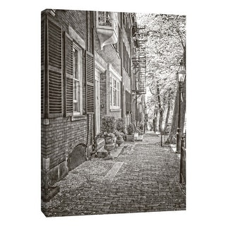 "PTM Images 9-106014  PTM Canvas Collection 10"" x 8"" - ""Colonial Street"" Giclee Buildings and Cityscape Art Print on Canvas"